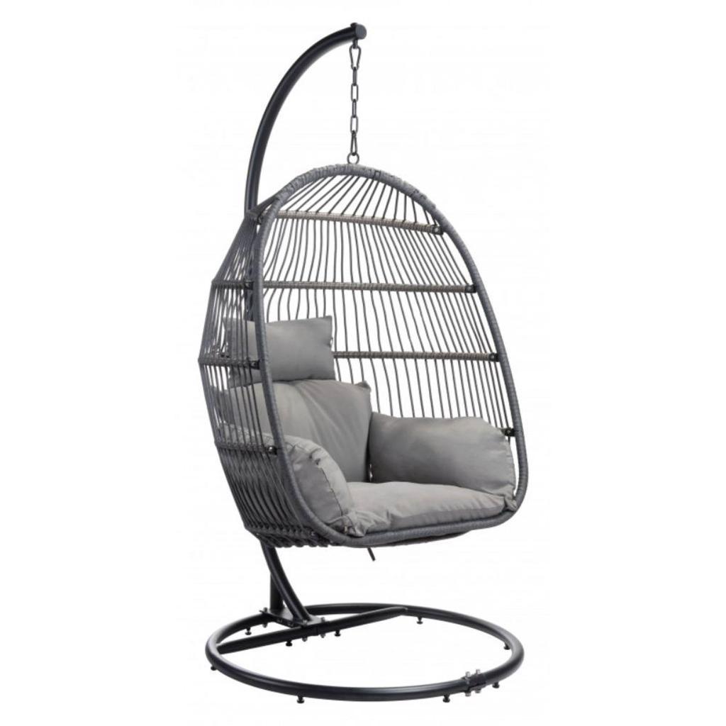 Zuo Bilbao Hanging Chair, Gray