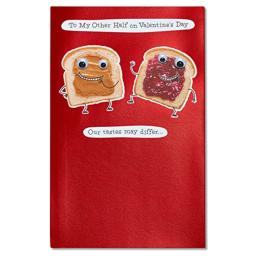 American Greetings Peanut Butter and Jelly Valentine's Day Card with Foil