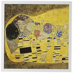 3dRose The Kiss c 1907 by Gustav Klimt - lovers embrace - romance - famous classical fine art - Greeting Cards, 6 x 6 inches, set of 6 (gc_155634_1)
