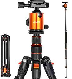 Victiv Joilcan 80Inch Tripod For Camera, Aluminum Tripod For Dslr,Monopod, Lightweight Iphone & Android Phone Tripod With 360 Degree Ball Head Stable For Travel And Work 18580,24Lb Load Mix