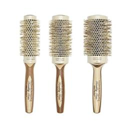 Olivia Garden Healthy Hair Eco-Friendly Bamboo Ionic Thermal Round Hair Brush HH-33, HH-43, HH-53 (3-Piece Deal)