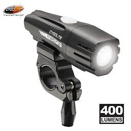 Cygolite Metro- 400 Lumen Bike Light- 4 Night Modes & Daytime Flash Mode- Compact & Durable- IP67 Waterproof- Secured Hard Mount- USB Rechargeable Headlight- for Road & Commuter Bicycles