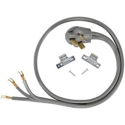 Certified Appliance Accessories 40-Amp Appliance Power Cord 3 Prong Range Cord 3 Wires with Open-End Connectors 5 Feet Copper Wire