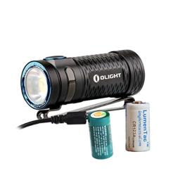 Olight S1 MINI High CRI Version 450 Lumens Rechargeable Ultra Compact LED Flashlight with Lumen Tactical Backup Battery ... (High CRI)