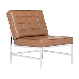 Studio Designs Home Studio Designs Home Ashlar Bonded Leather Barcelona Chair in Caramel