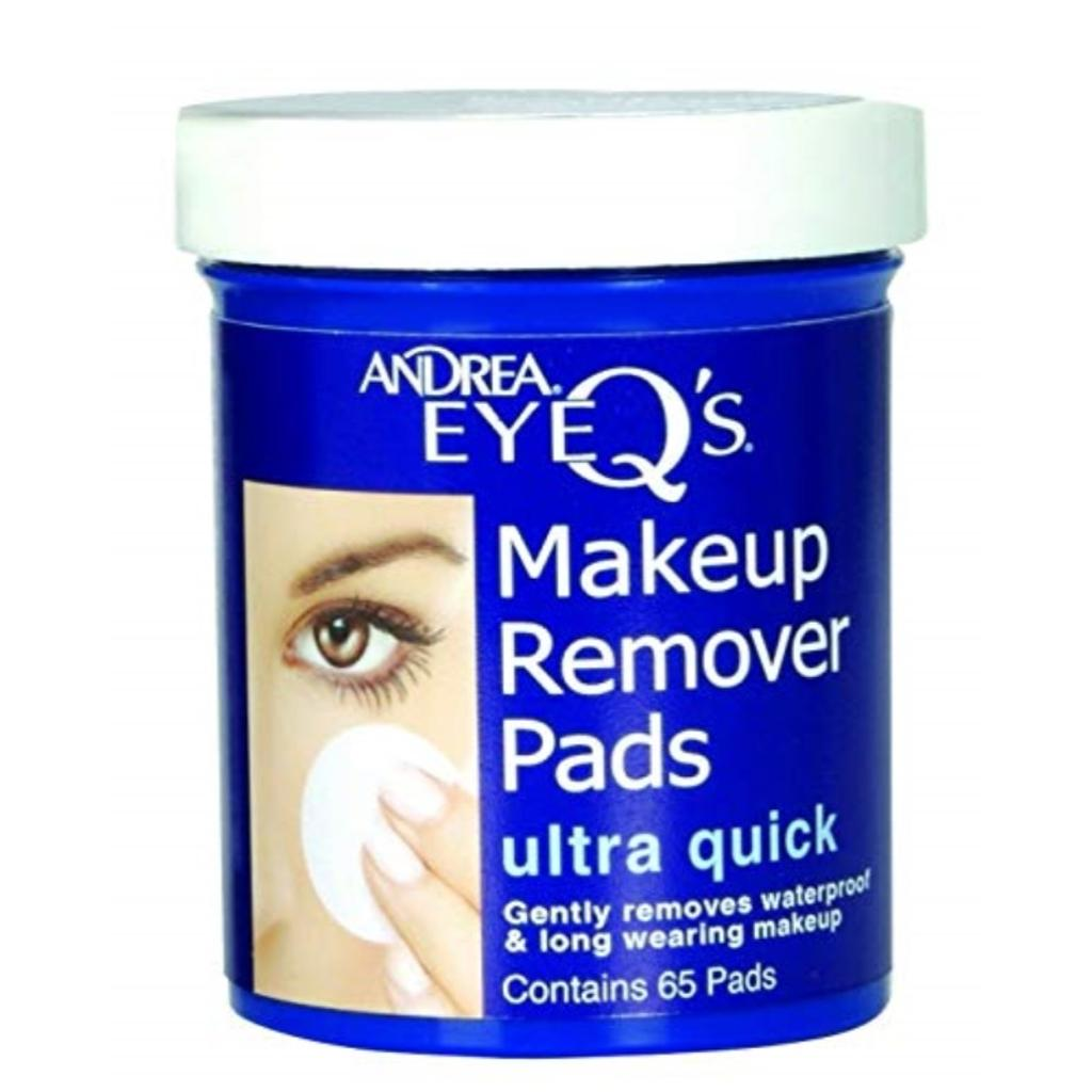 Andrea Eye Q's Eye Makeup Remover Pads, 65 Count