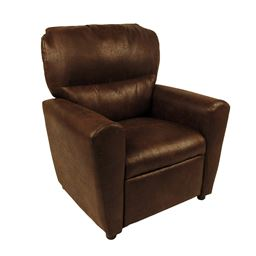 Dozydotes Contemporary  Tween Recliner in Brown Bomber