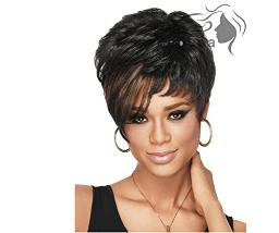 Longlove European and American Female Short Blonde Wig Synthetic Wigs Wavy Wig Fluffy Fluffy wig 6