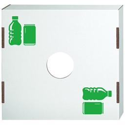 Bankers Box Corrugated Trash and Recycling Bin Cover, Bottles Icon, 1 Each (7320401)