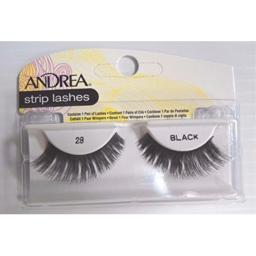 Andrea Strip Lashes - Style 28 Black (Pack of 6)