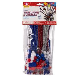Creative Hands Americana Tinsel Poms and Chenille Arts and Craft