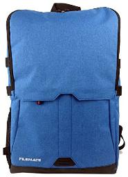 Filemate Contempo Notebook Backpack with RFID Protection, 15.6, Blue (3FMUMG15BPACK1-BL)