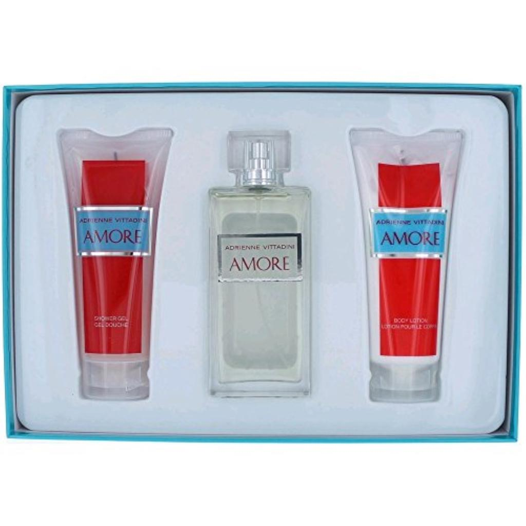 Adrienne Vittadini Amore Gift Set for Women (Eau de Parfum, Lotion, Shower Gel)