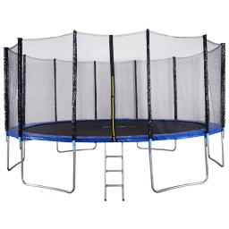 16 ft Trampoline Combo w/ Safety Enclosure Net, Spring Pad & Ladder