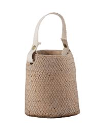 Urban Trends Collection UTC58906 Cement Basket Pot Washed Finish - Brass