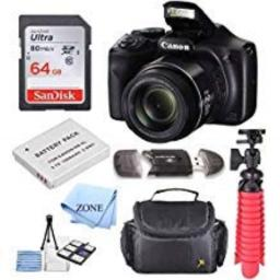 Canon PowerShot SX540 HS 203MP Digital Camera with 50x Optical Zoom + 64GB Delux Accessory Bundle