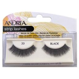 Andrea Strip Lashes, Black [33] 1 pair (Pack of 2)