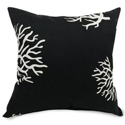"Majestic Home Goods Black Coral Indoor / Outdoor Large Pillow 20"" L x 8"" W x 20"" H"