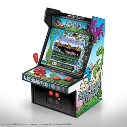 My Arcade Micro Player Mini Arcade Machine: Caveman Ninja Video Game, Fully Playable, 6.75 Inch Collectible, Color Display, Speaker, Volume Buttons, Headphone Jack, Battery or Micro USB Powered