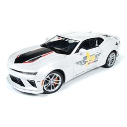 AUTO WORLD 1:18 MUSCLE CARS U.S.A. - 2017 CHEVROLET CAMARO SS - INDY 500 OFFICIAL PACE CAR AW236