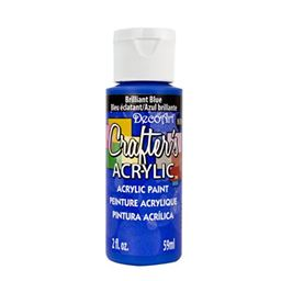 DecoArt Crafter's Acrylic Paint, 2-Ounce, Brilliant Blue