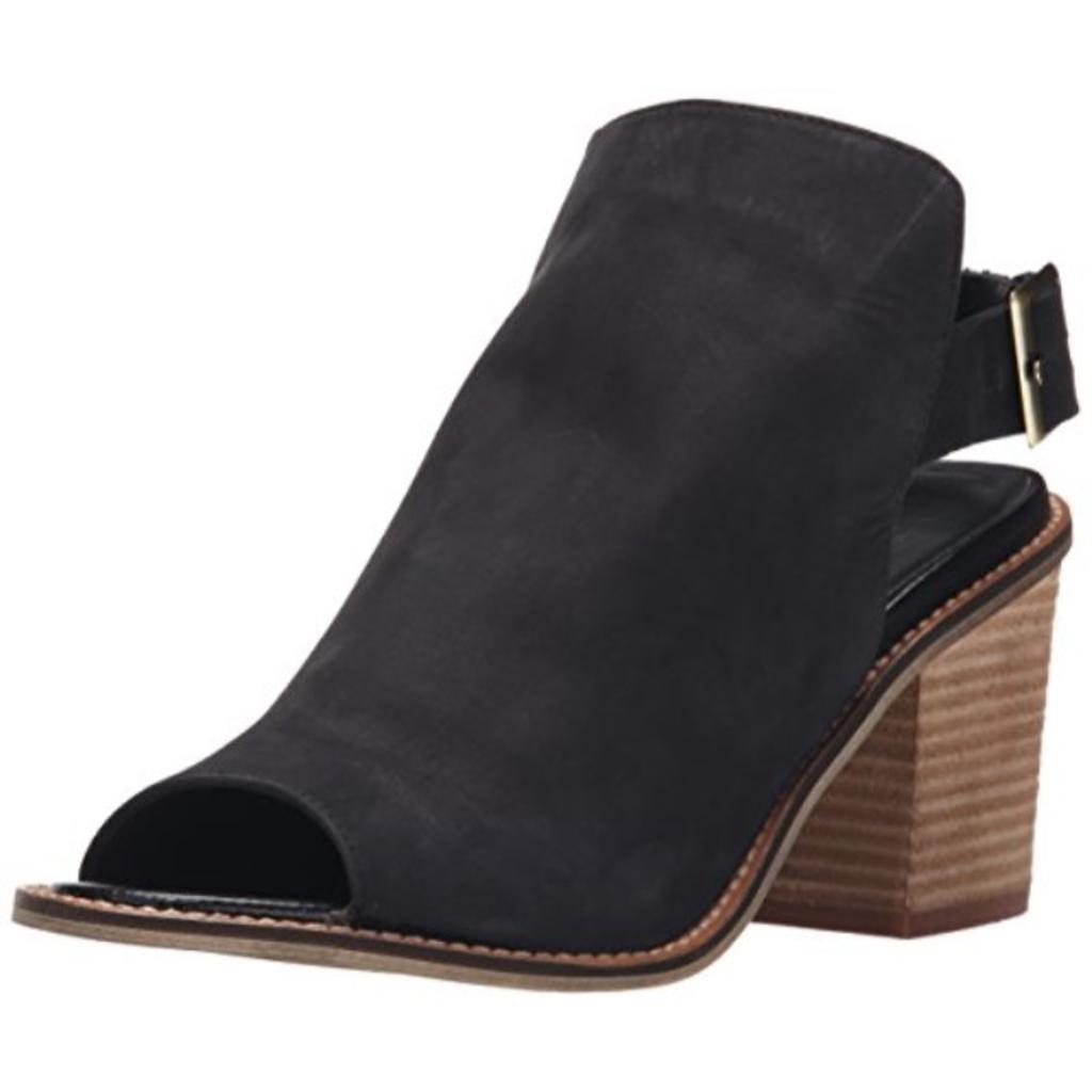 Chinese Laundry Women's Caleb Heeled Sandal, Black Leather, 6.5 M US
