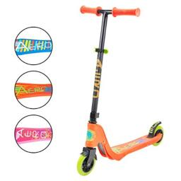 Flybar Aero Micro Kick Scooter for Kids, Pro Design with 2 LED Light Up Wheels, Adjustable Handles