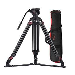 Miliboo Mtt609A Heavy Duty Aluminum Fluid Head Camera Video Tripod For Camcorderdslr Professional Monopod Tripod Stand 665 Inch Max Height With 15 Kilograms Max Load And Ground Spreader Design