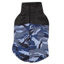 Casual Canine Polyester Camo Dog Vest, X-Small, 10-Inch, Blue