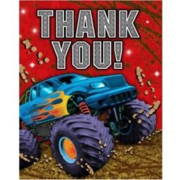 Mudslinger Monster Truck Thank You Cards 8 Per Pack