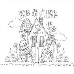 "Adorn-It Artplay Paintables Watercolor Paper 12""X12""-Love At Home"