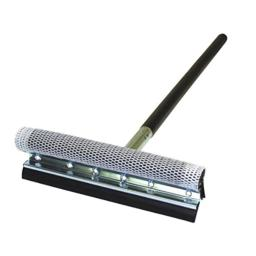 """Carrand 9057 Deluxe 8"""" Metal Squeegee with 24"""" Black Wood Handle"""