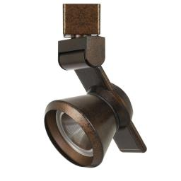 12W Integrated LED Metal Track Fixture with Cone Head, Bronze