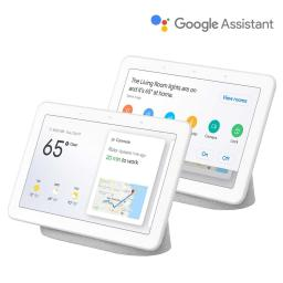 """2 Pack Google Home Hub 7"""" Touchscreen Smart Display Personal Assistant - Chalk"""