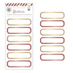 American Crafts Pink Paislee Yuletide Collection Christmas Foil Stickers Labels