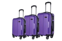 Brio Luggage Hardside Spinner Luggage Set #1701 - Purple
