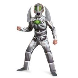 Redakai Metanoid Muscle Deluxe Costume, Silver/Green/Black, Medium