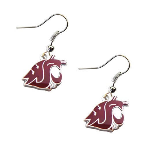 NCAA Washington State Cougars Dangle Logo Earring Set Charm Gift