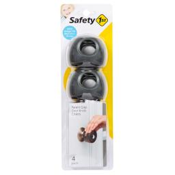 Safety 1st Charcoal Plastic Door Knob Covers 4 pk - Case Of: 1;