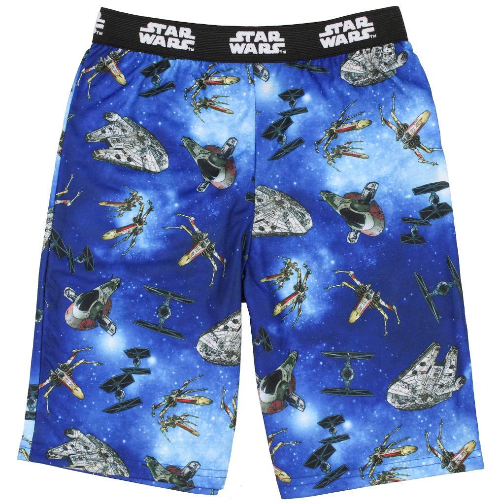 Star Wars Boys' Youth Starfighter Spaceships Pajama Sleep Shorts