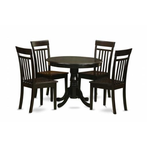 East West Furniture ANCA5-CAP-W 5 Piece Kitchen Table Set-Kitchen Table and 4 Kitchen Dining Chairs