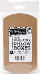 "Brutus Monroe Kraft Pre-Cut Pillow Boxes 3.5""X3""X1"" 6/Pkg- BRU6753"