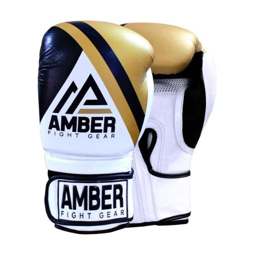 Amber Fight Gear FURY-102 16 oz Amber Fight Gear Fury Sparring Gloves, Gold & Black