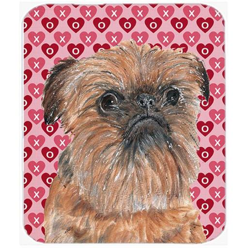 7.75 x 9.25 In. Brussels Griffon Valentines Love Mouse Pad, Hot Pad or Trivet