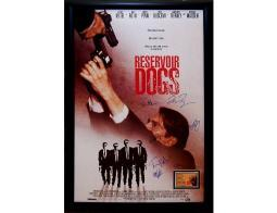 Tarantino's Reservoir Dogs Autographed Signed Movie Poster in Wood Frame