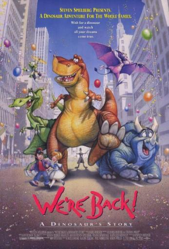 We're Back A Dinosaur's Story Movie Poster (11 x 17) 1011596