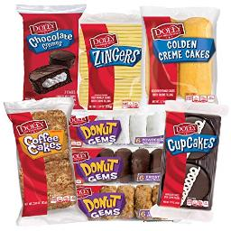 Dolly Madison Snack Cake Variety Pack | Cream Cakes, Coffee Cakes, Cupcakes, Donuts, Zingers | 8-Pack (29 Pieces)