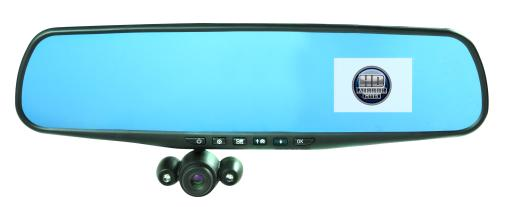 Official HD Mirror Cam As Seen on TV Dash Cam 350°, Motion Detection, 2.5 LCD, 720P HD, Dashboard Camera Video Record