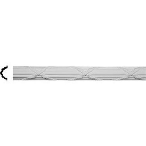 Ekena Millwork PML04X02RE 3.5 In. H X 2.37 In. P X 96 In. L Architectural Reed And Ribbon Panel Moulding