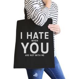 I Hate You Black Eco Bag Funny Graphic Gift Ideas For Girlfriends